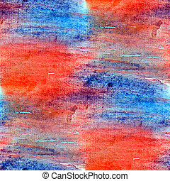art seamless macro texture red blue watercolors with brush strok