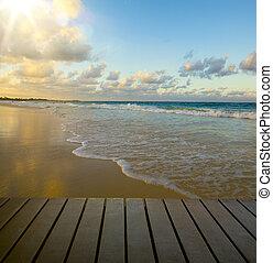 art seaside view - Art beautiful seaside view background