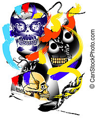 art skull abstract