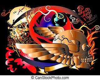 art skull rock