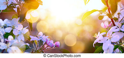 art Spring Blooming background - Spring Blooming background;...