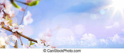 art Spring blossom background
