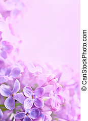 Art Spring lilac abstract background