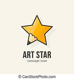 Art star abstract vector concept symbol icon