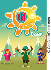 Art summer camp poster