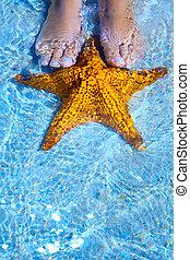 Art summer relax on tropical beach