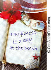 Art Summer tropical beach vacation; enjoy Paradise