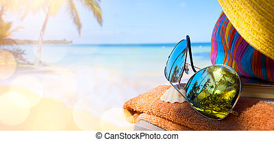 Summer vacation; enjoy happy holiday on the Summer beach