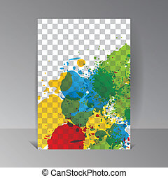 Art template Background. Color paint waterdrop illustration