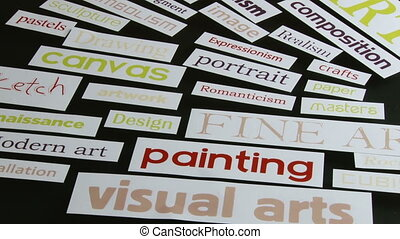 Art terms, words, rotate