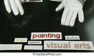 Art terms, words, time lapse