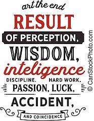 result of perception