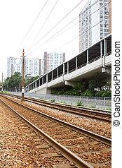 art, transport, licht, ihm, hong, rail., kong, area.
