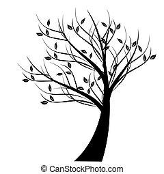 Beautiful art tree isolated on white background