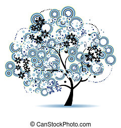 Art tree beautiful for your design