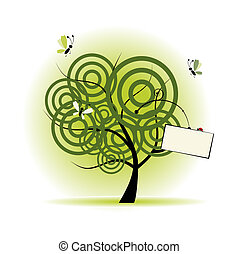 Art tree beautiful, place for your text