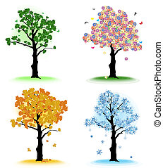 Art tree for your design.  Four seasons