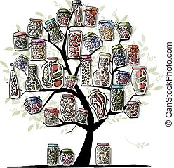 Art tree with pickle jars for your design