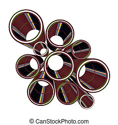 Art tubes - Creative design of art tubes