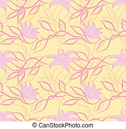 Art vector flower pattern