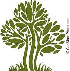 Art vector graphic illustration of tree, season concept, can...