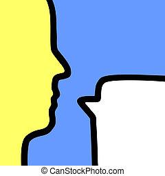 Art vignette talking - Creative design of art vignette...