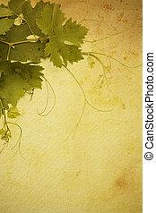 art  vintage style wine list  design