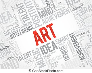 Art word cloud, business concept