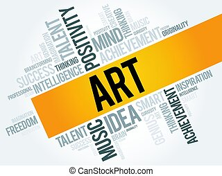 Art word cloud concept