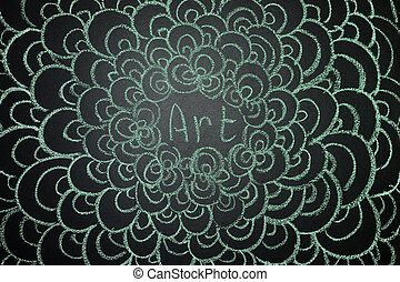 Art, written with chalk on a blackboard