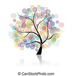 arte, árbol, fantasía