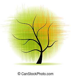 arte, árbol, hermoso