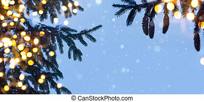arte, árbol, navidad, luz