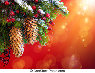 arte, árbol, navidad, nevoso