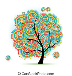 arte, árvore, fantasia