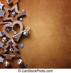 arte, árvore, natal, decoration;, fundo