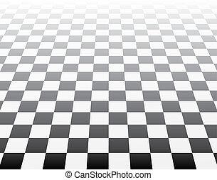 arte, 3d, op, ajedrez