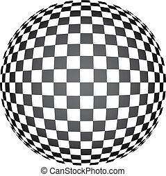 arte, 3d, op, scacchi