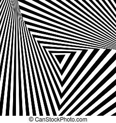 arte abstracto, geométrico, fondo, op