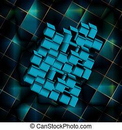 arte abstracto, plano de fondo, digital
