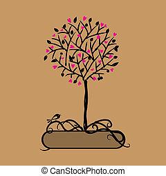 arte, albero, bello, per, tuo, disegno