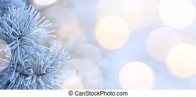 arte, albero natale, luce