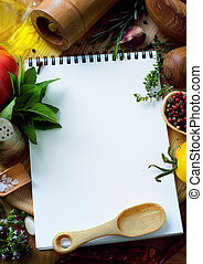 arte, alimento, recetas