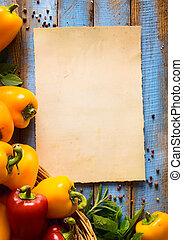 arte, alimento vegetariano, salud, o, cocina, concept.