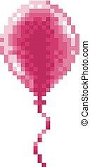arte, arcada, balloon, jogo, vídeo, 8, bit, pixel, ícone