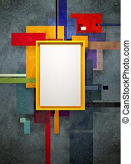 arte astratta, composizione, in, museo