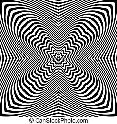 arte, astratto, pattern., op