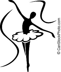 arte, ballet, silueta