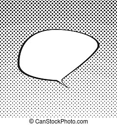 arte, burbuja del discurso, plano de fondo