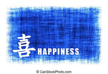 arte, -, chinês, felicidade